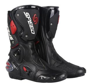 Chaussures de moto professionnel moto moto motocross course microfibre cuir boots de la moto de la moto de la moto pour hommes accessoires de démarrage