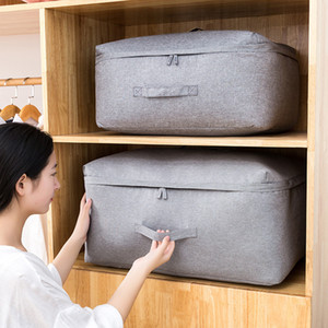 Large Non Woven Fabric Folding Storage Bag Dirty Clothes Collecting Case With Zipper For Quilt Storage Bag Big Storage Bag LJ201125