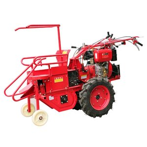 Sıcak satış paslanmaz çelik el itme küçük mısır biçerdöver dizel motor mini mısır seçici mısır hasat