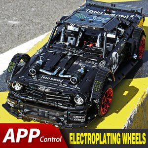 APP RC Bricks Ford Mustang Hoonicorn RTR V2 City Racing Car Model Kit Fit Lepining Technic MOC-22970 Building Blocks Kids Toys Q1126