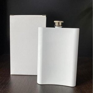 {New}Sublimation Stainless Steel Hip Flask Outdoor Portable Vamping Tumblers 8OZ Water Bottle Flagon free FASTSEA SHIPPING DHC3287