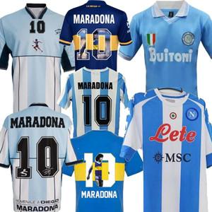 78 86 2001 Argentinien 86 87 Napoli 81 BOCA MARADONA GEZEUTUNG ARGENTINE inspiriert Napoli 20-21 Viertes Retro-Fußball-Fußball-Jersey-Hemd