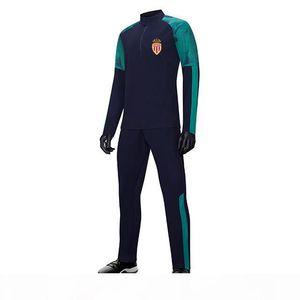 Association Sportive de Monaco Football Club Men's Football Tracksuit xxl Player Version Long sleeve Training Suit Jacket Soccer fans J