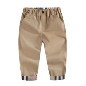 2020 Moda Trend Bahar Çocuk Erkek Marka Ekose Pantolon Rahat Sonbahar Bebek Çocuk Giyim Yüksek Kalite Yenidoğan Bebek Spor Pantolon