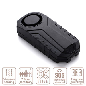 Motorcycle Bicycle Alarm System Waterproof Electric Bicycles Safety Loss Prevention Wireless Remote Control Vibration Detector Alarms Sf-22R