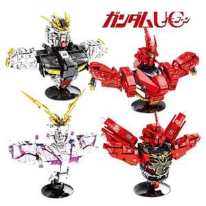 Modelli Idee creatore di Gundam mattoni Busto UC Set Robot Unicorn Sazabi Sinanju Technic Building Blocks bambini Bambini Giocattoli regalo C1115