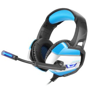 Onikuma Onikuma K5 K5 برو 3.5 ملليمتر سماعات الألعاب أفضل غطاء سماعة سماعة مع مايكروفون LED ضوء لأجهزة الكمبيوتر المحمول / PS4 / Xbox جديد