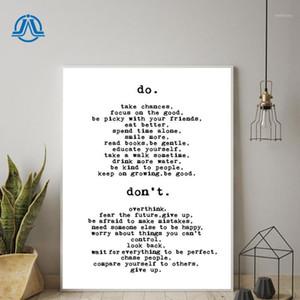 Lona simples fazer ou não inspirador tipografia motivacional citação de texto casa decoração cozinha arte aniversário parede pintura1