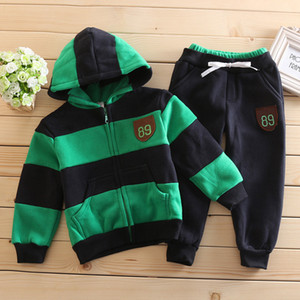 2019 Winter Baby Boy Clothing Set Cotton Baby Girls Clothes Newborn Baby Clothes Warm Jacket Fashion Clothes Sports Kids Outfits Y1113