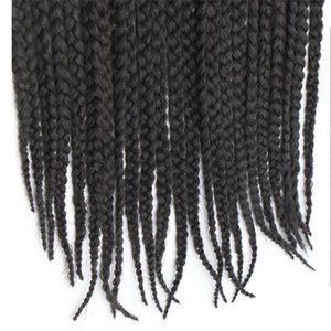 Feibin Havana Crochet Braids Afro Braiding Hair Extensions 3Packs 60 Strands 18 inches B42 Q1127