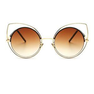 2019 Fashion Women Cat Eye Sunglasses men Oversized Fashion Brand Designer Sun Glasses Ladies For Female Big Frame UV400 Y198