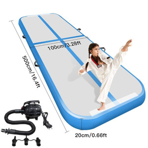 Gymnastic Tumbling Mat Air Track Floor Indoor Home Inflatable Sport GYM Pad Tumbling Mat For Floor Home Back Yard