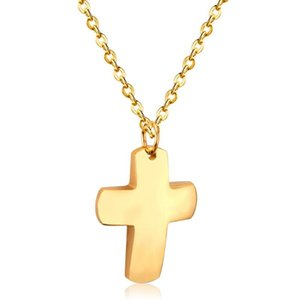 LUXUKISSKIDS Men Choker Cross Pendant Necklace Stainless Steel Link Chain Necklace collares collier 2021 Statement Jewelry