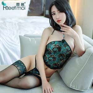 Japanese Lingerie Women Set Lace Transparent Backless Embroidery Interior Mujer Erotica Ropa Sexy Para El Sexo