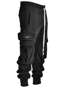 moda casual calças 2020 dos homens novos ropa deportiva mujer ginásio Baggy macacão largo-pé com um espartilho CN (Origin) 456 1116