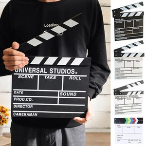 Director's Film Clapboard Action Scene Clapper Board Wooden Movie Film Clap Slate1