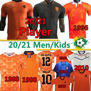 20 21 Nationalmannschaftsspieler Fußball Jerseys Netherlands Retro Klassiker 1988 Van Basten Gullit Rijkaard 95 96 97 98 Holland Bergkamp 2000 02 12