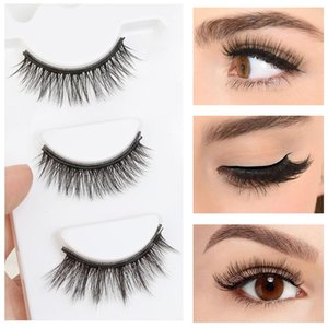 Magnetic Eyeliner liquid False Eyelashes Set Eye Lashes Waterproof 3D Mink Liquid Tweezers False Lashes Set Makeup Tool