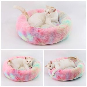 A-Round Soft Long Plush Best Dog Bed For Dogs Basket Pet Products Cushion Cat Mat House Animals Sofa