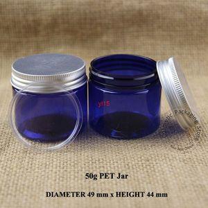 30pcs lot Promotion 50g Facial Cream Jar Empty Plastic 50ml Eyeshadow Vial Women Cosmetic Emulsion Container Aluminum Lidgood qualitty