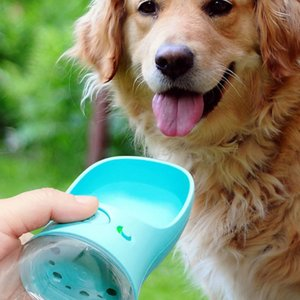 Pet Dog Water Bottle Portable Travel Cups Outdoor Feeder Water Drinking Bowl 350ML Small Large Dogs Pet Products YHM230
