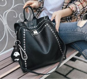 Women Bags spring and summer new Korean version of the backpack female personality trendy rivet decoration ladies multifunctional travel bag