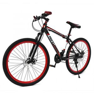 26 zoll Erwachsene Teenager Mountain Road Bike 21 Geschwindigkeit Dual Scheibenbremse Fahrrad Dämpfung Fahrrad Doppel Stoßdämpfung Fahrrad