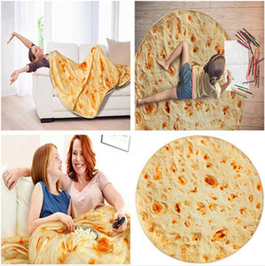 90cm 150cm Mexican Burrito Blanket Tortilla Household Blankets Adult Child Comfortable Food Throw Blankets Bedspreads LJJP835
