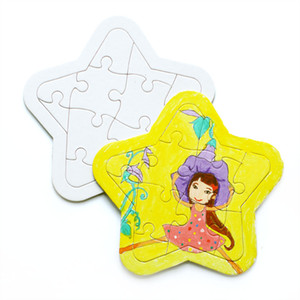 4 Style DIY Blank Dye Sublimation Printable Jigsaw Puzzle Unique Gift for Heat Press Transfer Paper Children Gift GH1116
