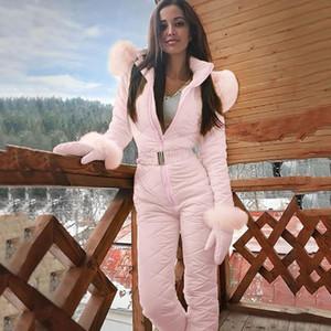 Donne Fashion Fashion One Piece Ski Tuta Casual Spessore Inverno Snowboard Snowboard SciUsuit Sport da esterno Sport Pantalone da sci Set Zipper Suit # G4