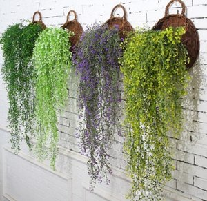 Artificial flowers vine ivy leaf silk hanging fake plant artificial plants green garland home wedding party decoration