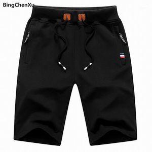 Bingchenxu Marka 2018 Katı erkek Şort Boyutu S-4XL Yaz Erkek Plaj Şort Pamuk Rahat Erkek Homme Marka Giyim 6561