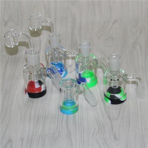 20pcs Glass Reclaim Catcher Adapter 14mm 18mm Male Female 45 90 With Reclaimer Ash Catcher Adapter For Glass Water Bongs Dab Rigs