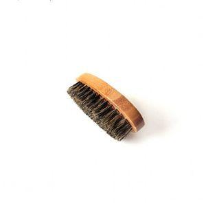 Bamboo اللحية فرشاة خنزير شعيرات خشبية البيضاوي الوجه تنظيف الرجال الاستمالة لا مقبض فرش الشعر جودة عالية 4 8ZC G2