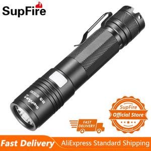 Supfire A5 Новый Светодиодный Тактический Фонарик EDC 18650 USB Аккумуляторная лампа для кемпинга Рыболовная портативная Самооборота Факел 201207
