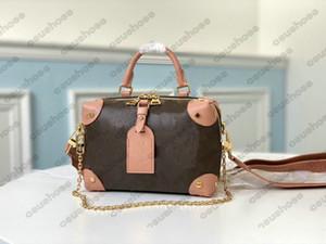 الوردي sugao petite malle souple crossbody سلسلة حقيبة السيدات المرأة الكتف حقيبة الإناث مصممي الفموي حقيبة يد جلدية M45571 M45531