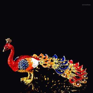 Qifu Art Craft Lifelike Beautiful Peacock per la decorazione domestica1