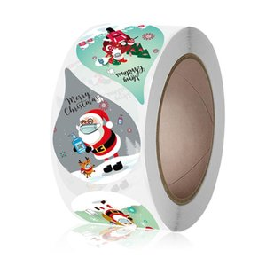 500Pcs Roll Christmas Stickers Water Drop Sealing Labels Santa Claus Card Gift Box Package Decoration Happy New Year 2021 Noel
