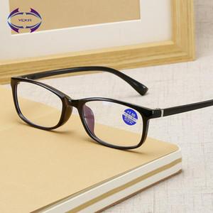 VCKA Frauen Lesebrille Leichte Quadrat Transparente Älteste Lesebrille Vision Männer Vergrößerung Eyewear + 1,0 ~ + 4.0