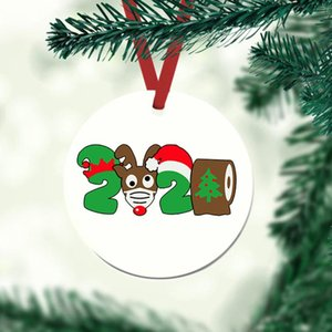 2020 Quarantine Christmas Birthdays Party Decoration Gift Product Personalized Hanging Ornament Decoration Personalized Hanging