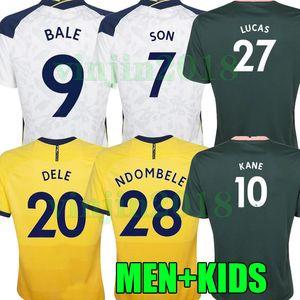 20 21 Домашний дом 9 Bale ReguiLon Футбол для футбола Kane Son Bergwijn Ndombele 2020 2021 Lucas Footbool Футбольные рубашки Lo Celso Home Men + Kids Kit