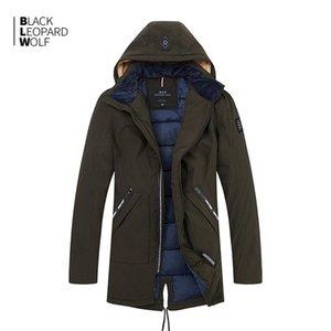 BlackleopardWolf New Chegada de inverno de algodão grossa Qualidade Casual Parkas Roupas Outerwear Down Jacket Homens B356 201104