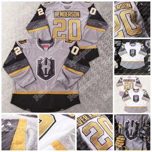 2020 Henderson Silver Knights Inaugural Jersey Henderson Оскар Dansk Giorgio Estephan Gage Quinney Logan Thompson AHL Хоккей Джерси