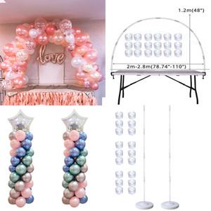 Tabelle Ballon Bogen Set Ballon Säulenständer für Hochzeit Geburtstag Abschlussball Ballons Zubehör Babyparty Dekorationen Q1124