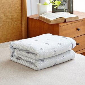 100% Cotton Six layers of gauze Towelling Coverlet Blanket Throw (Sailing) free shipping 201113