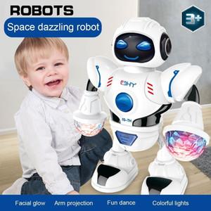 Yeni Alan Göz Kamaştırıcı Müzik Robot Parlak Eğitici Oyuncaklar Elektronik Yürüyüş Dans Akıllı Alan Robot Çocuklar Müzik Robot Oyuncaklar LJ200818