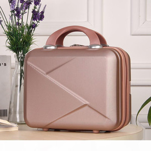 High Quality Fashion Light 14 Inches Mini Zipper Lady Business Abs Cosmetic Suitcase for Makeup Bags Toiletry Bag
