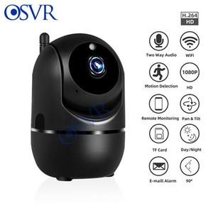 Mini cámara IP Seguimiento automático HD 1080P Inicio Inicio Inalámbrico WiFi Visión nocturna Vigilancia de seguridad CCTV YCC365