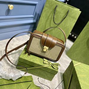 Designers Bags Horsebit 1955 Small Shoulder Bag Luxurys Women Handbags Mini Purse Crossbody Bags Brown Calfskin Top Quality with Box