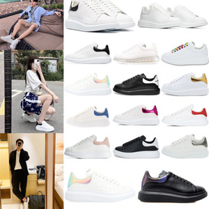 top Platform White Designer Shoes Fashion mcPueens Reflective Leather Best Women Sneakers Black Grey Casual Shoes Sneakers Size 35-45